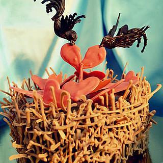 Chocolate Bird's Nest Cake by Oana Ilie