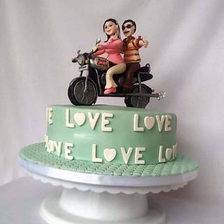Retro theme cake - Cake by Minna Abraham
