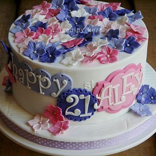 Pretty 21st Cake :)