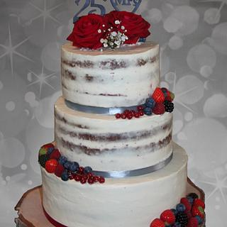 25th anniversary wedding cake - Cake by Cakes for Fun_by LaLuub