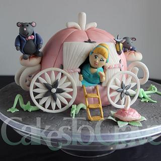 Cinderella Carriage Baby Shower Cake