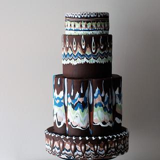 Inspired by Bulgarian Trojan Ceramic - My Bulgaria Cake Collaboration