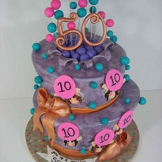 fun fifty vibrant cake