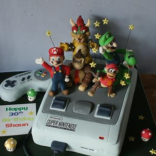 Nintendo Cake - Cake by TipsyTruffles