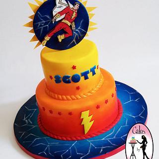 SHAZAM super hero cake - Cake by Tali