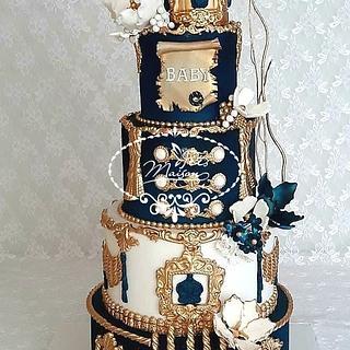 Princely baptism cake