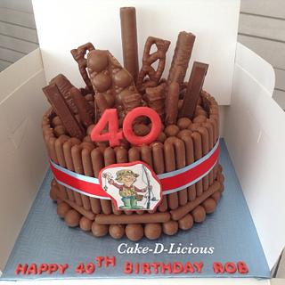 40th Chocolate Overload Cake