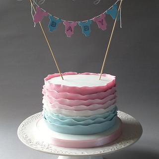 Baby shower ruffles - Cake by CraftyMummysCakes (Tracy-Anne)