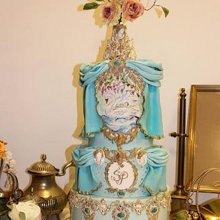 Swan baby cake