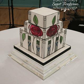 Mackintosh Rose Wedding Cake