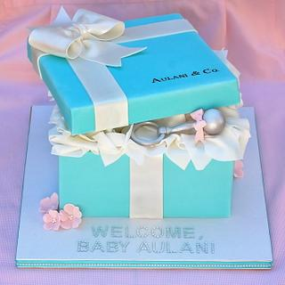 Tiffany Baby Shower - Cake by Lesley Wright