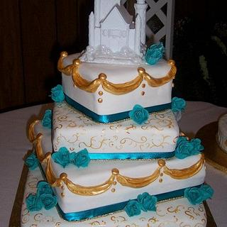 Happily Ever After Wedding Cake