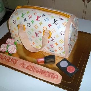 LV BAG cake..............2nd version - Cake by KristianKyla