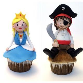 Pirate and Princess Muffins - Cake by Mellaland