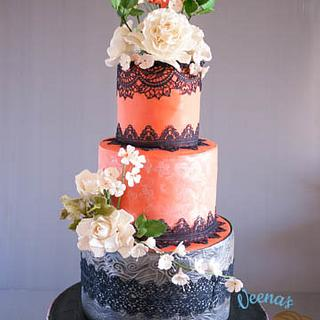 Coral Lace Wedding