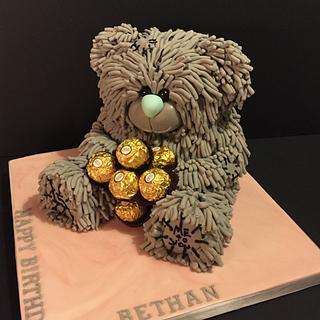 Blue nose bear - Cake by Jill saunders