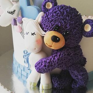 Purple bear cake 😊