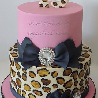 Leopard print bling