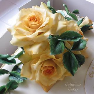 Golden Anniversary - Cake by Calli Creations