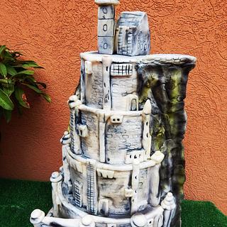 Minas Tirith wedding caka