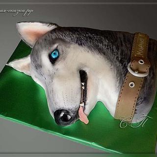 """Cake """"Husky Dog"""" - Cake by Svetlana"""