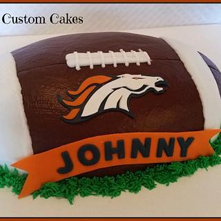 Bronco Football Cake - Cake by RuthieAnn