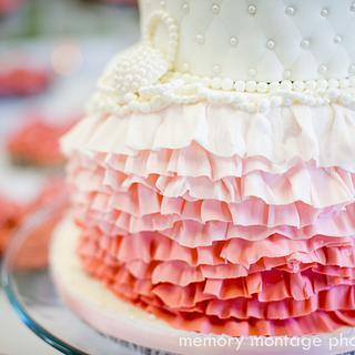 Pink Ruffles & Pearls
