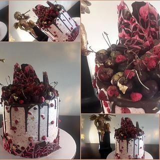 Chocolate, cherries and raspberries galore.