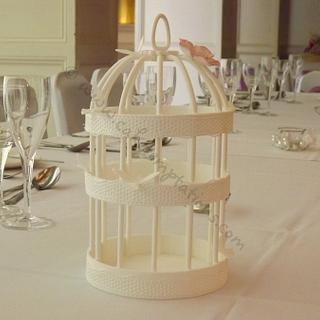 Handmade edible birdcage