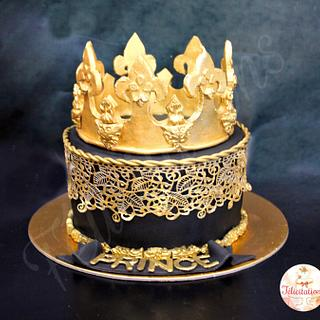 Royal Black and Gold Cake