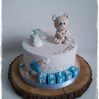 Christening teddy bear :)