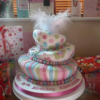 3 tier Wonky Cake