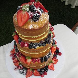 Naked wedding cake - Cake by Shanikah Fernando