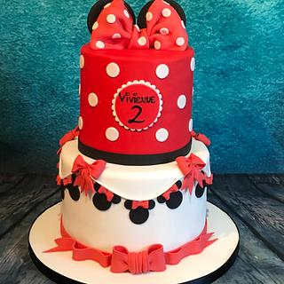 Minnie 2 tier cake