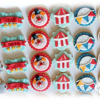 Circus cookies for Pietro's first birthday