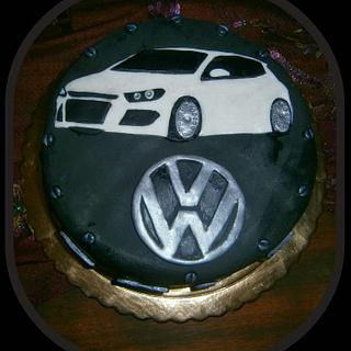 VW Golf Auto themed cake