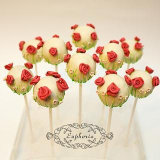 Blossoming cake pops