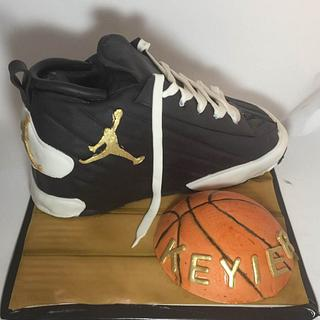Jordon Jumpman Tennis Shoe - Cake by givethemcake