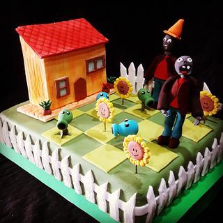Cake PlantasvsZombies - Cake by MARCELA CORCA