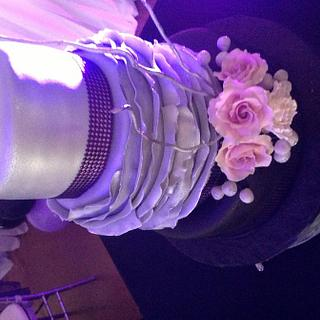 Gray, black and purple cake