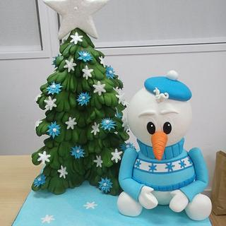 Snowman Cake - Cake by Alexsandra Caldeira