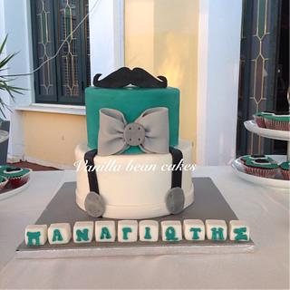 Little man christening - Cake by Vanilla bean cakes