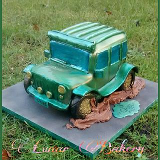 Jeep in the mud Cake