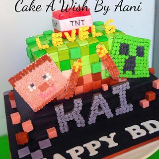 Mine craft cake :)