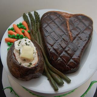 Steak Cake - Cake by It's a Cake Thing
