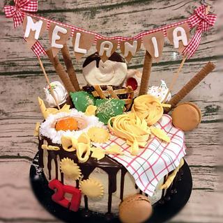 Tortellini cake