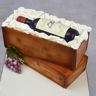 """Wine Crates Birthday Cake """