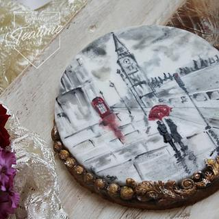 Love in London! Hand painted cookie - Cake by Tayyaba Usman