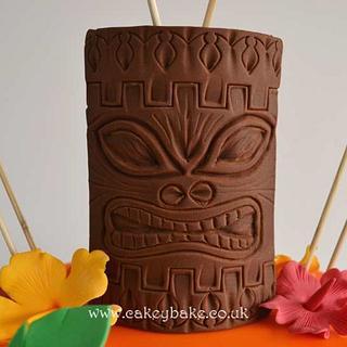 Hawaiian Tiki Cake