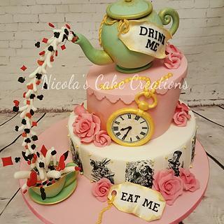 Wonderland themed Cake